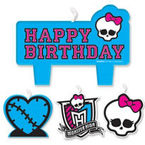 Monster High Birthday Candles 4ct