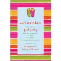Flip Out Custom Invitation
