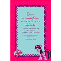 My Little Pony Custom Invitation