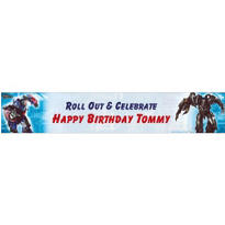 Transformers Custom Birthday Banner 6ft