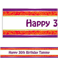 Custom Birthday Cumpleanos Banner 6ft