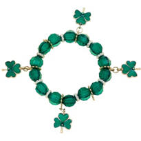 St. Patricks Day Stretch Charm Bracelet 8in