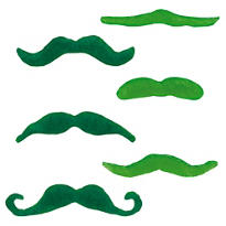 St. Patricks Day Felt Moustaches 6ct