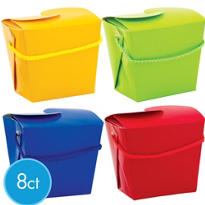 Primary Color Favor Boxes 8ct