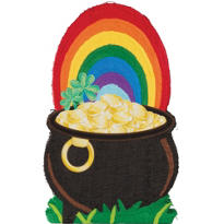 Pot Of Gold St. Patricks Day Giant Pinata 36in