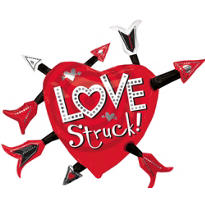 Foil Love Struck Valentines Day Balloon 35in