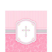 Girl's Communion Blessings Lunch Napkins 16ct