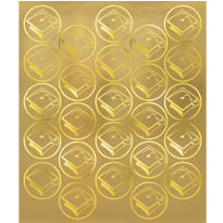Gold Mortarboard Graduation Sticker Seals