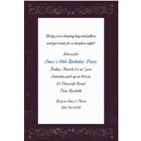 Textured Border Custom Invitation