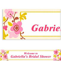 Custom Linen Floral Banner 6ft