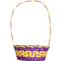 Purple and Yellow Paint Splatter Easter Basket