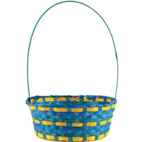 Blue and Yellow Easter Basket