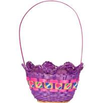 Purple Egg Shaped Easter Basket