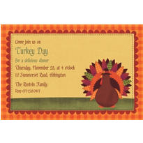 Turkey Dinner Custom Invitation