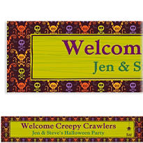 Chills & Thrills Halloween Custom Banner