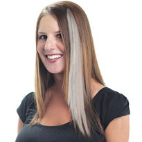 White Hair Extension 15in