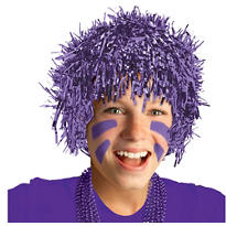 Purple Tinsel Wig