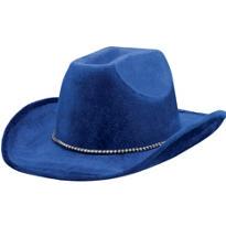 Blue Suede Cowboy Hat