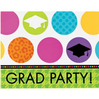 Colorful Commencement Graduation Invitations 50ct