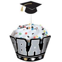Graduation Cupcake Wrap Combo Pack for 12