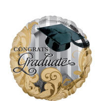 Foil Gold Traditions Graduation Balloon 18in