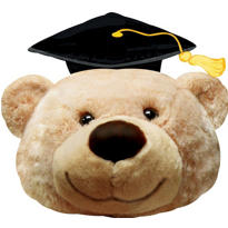 Foil Bear Graduation Balloon 36in