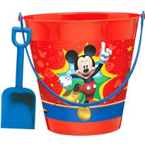 Mickey Mouse Pail with Shovel 7 1/4in