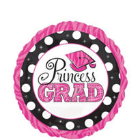 Foil Princess Grad Balloon