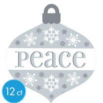 Peace Ornament Cutouts 12ct