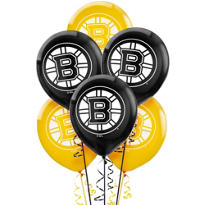 Latex Boston Bruins Balloons 6ct