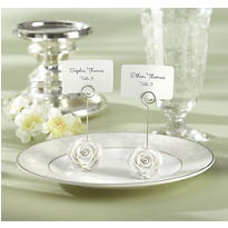 White Flower Place Card Holder Favor