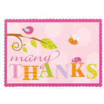 Tweet Baby Girl Thank You Notes 8ct
