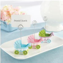 Baby Carriage Place Card Holder Baby Shower Favors 3ct