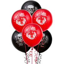 Latex Party Rock Balloons 12in 6ct