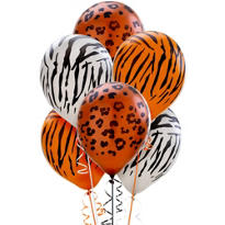 Animal Print Latex Balloons 12in 20ct