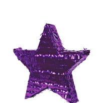Purple Foil Star Pinata 18in