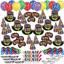Multi Bright Star New Years <span class=messagesale><br><b>Party Kit For 300</b></span>