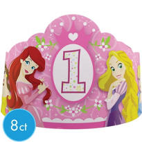 Disney Princess 1st Birthday Party Tiaras 8ct