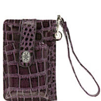 Purple Cell Phone Wallet Wristlet