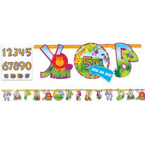 Add an Age Jungle Animals Letter Banner 10ft