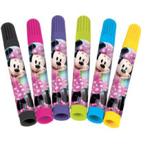 Minnie Mouse Markers 6ct