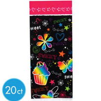 Neon Groovy Treat Bag 20ct