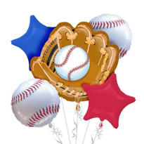 Baseball Balloon Bouquet  5pc