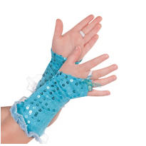 Child Aqua Fairy Glovelettes