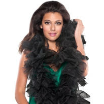 Black Glitter Tulle Boa 60in