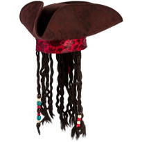 Pirates of the Caribbean Hat With Braids