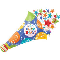 Foil Giant Birthday Fever Happy Birthday Balloon 40in