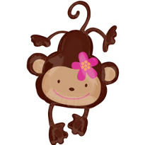 Foil Giant Monkey Love Balloon 40in