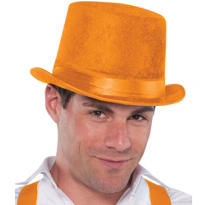 Velour Orange Top Hat