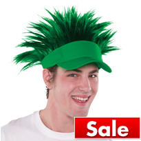 Green Spikey Hair Visor